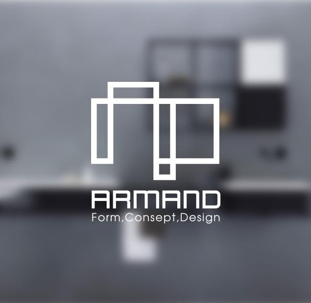 طراحی لوگو گروه طراحی معماری داخلی آرمند