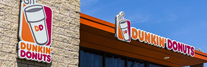 بررسی تاریخچه لوگوی Dunkin donuts