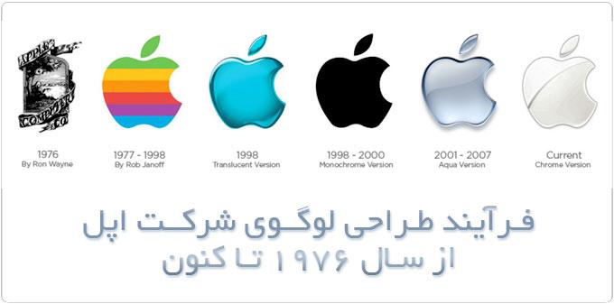 تاریخچه لوگوی اپل از سال 1976 تا کنون