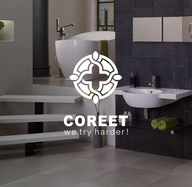طراحی نشان شرکت تولید کننده چینی بهداشتی کوریت