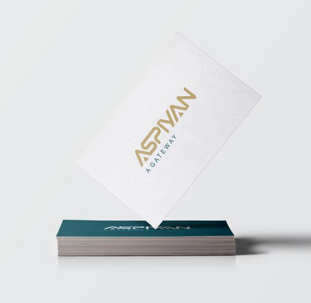 طراحی نشان شرکت آسپیان