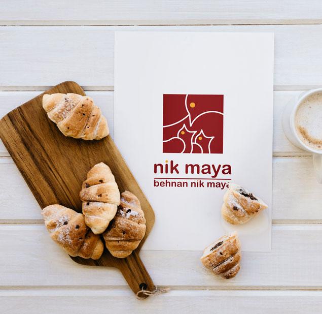 طراحی نشان شرکت نیک مایا