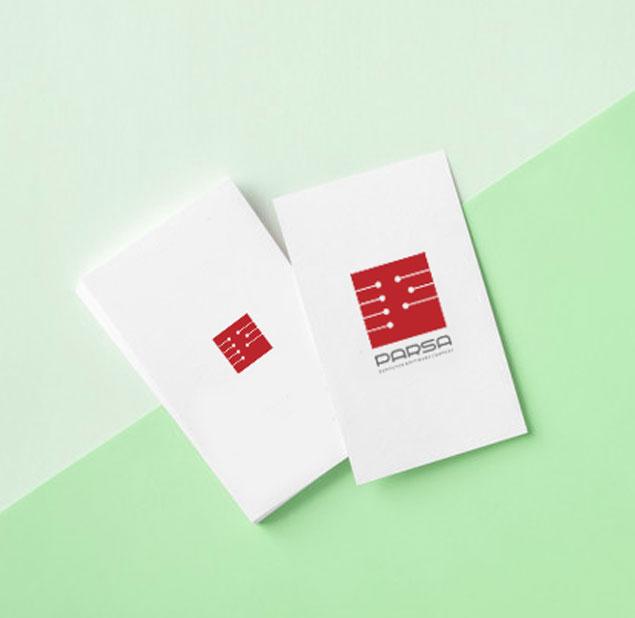 طراحی آرم شرکت نرم افزاری پارسا