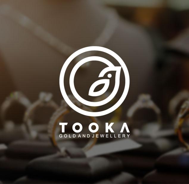طراحی لوگو طلا و جواهرسازی توکا