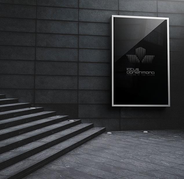 طراحی آرم مجموعه  lotus abniehmana