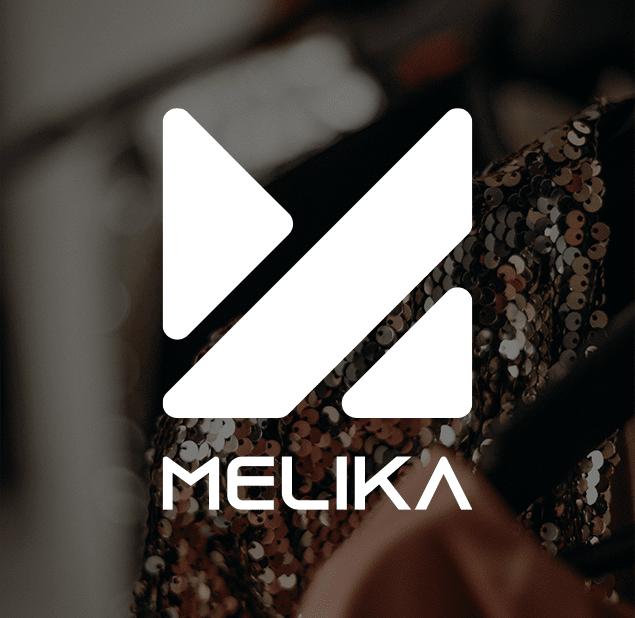 طراحی آرم مجموعه melika