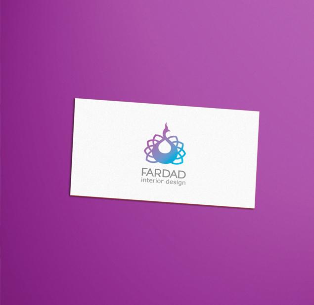 طراحی لوگو شرکت طراحی دکوراسیون داخلی فرداد