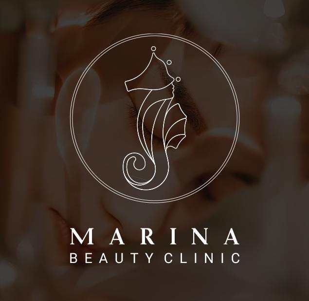 طراحی آرم کلینیک زیبایی مارینا