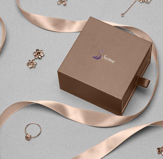 طراحی آرم طلا و جواهر ساینا