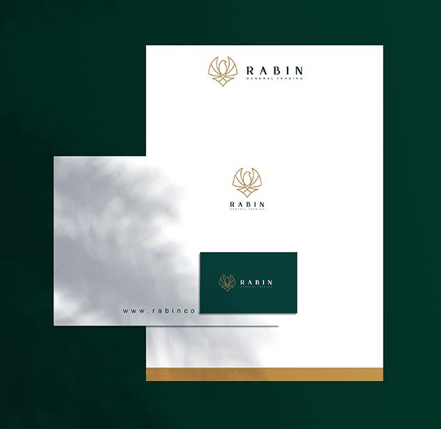 طراحی آرم مجموعه rabin