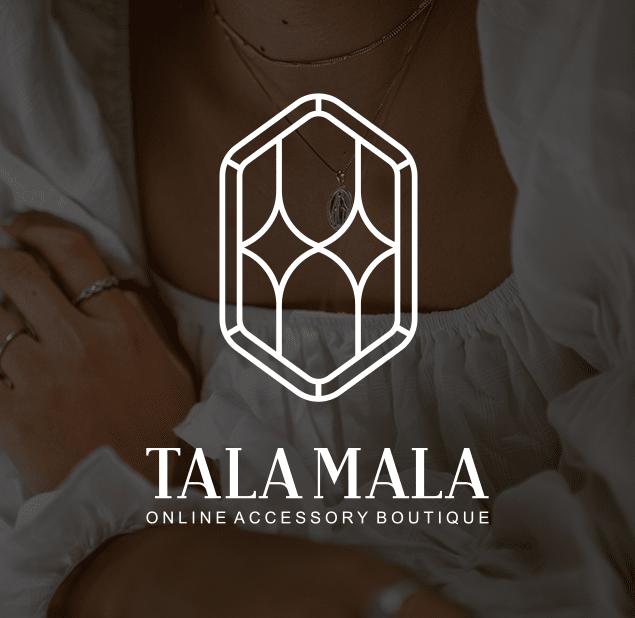 طراحی آرم مجموعه  talamala